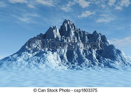 Stock Illustrations of Big Mountain.