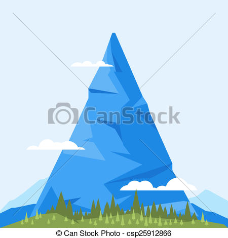Stock Illustration of High Mountain Flat.