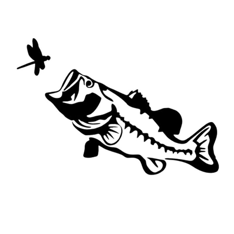 Bass Fish Stencil.