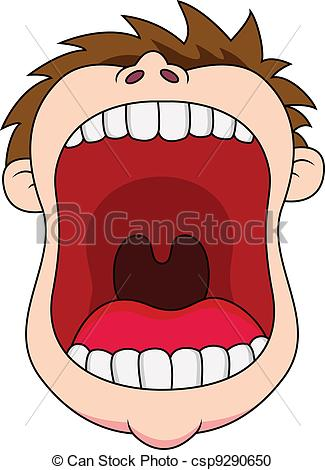 Lion open big mouth clipart.
