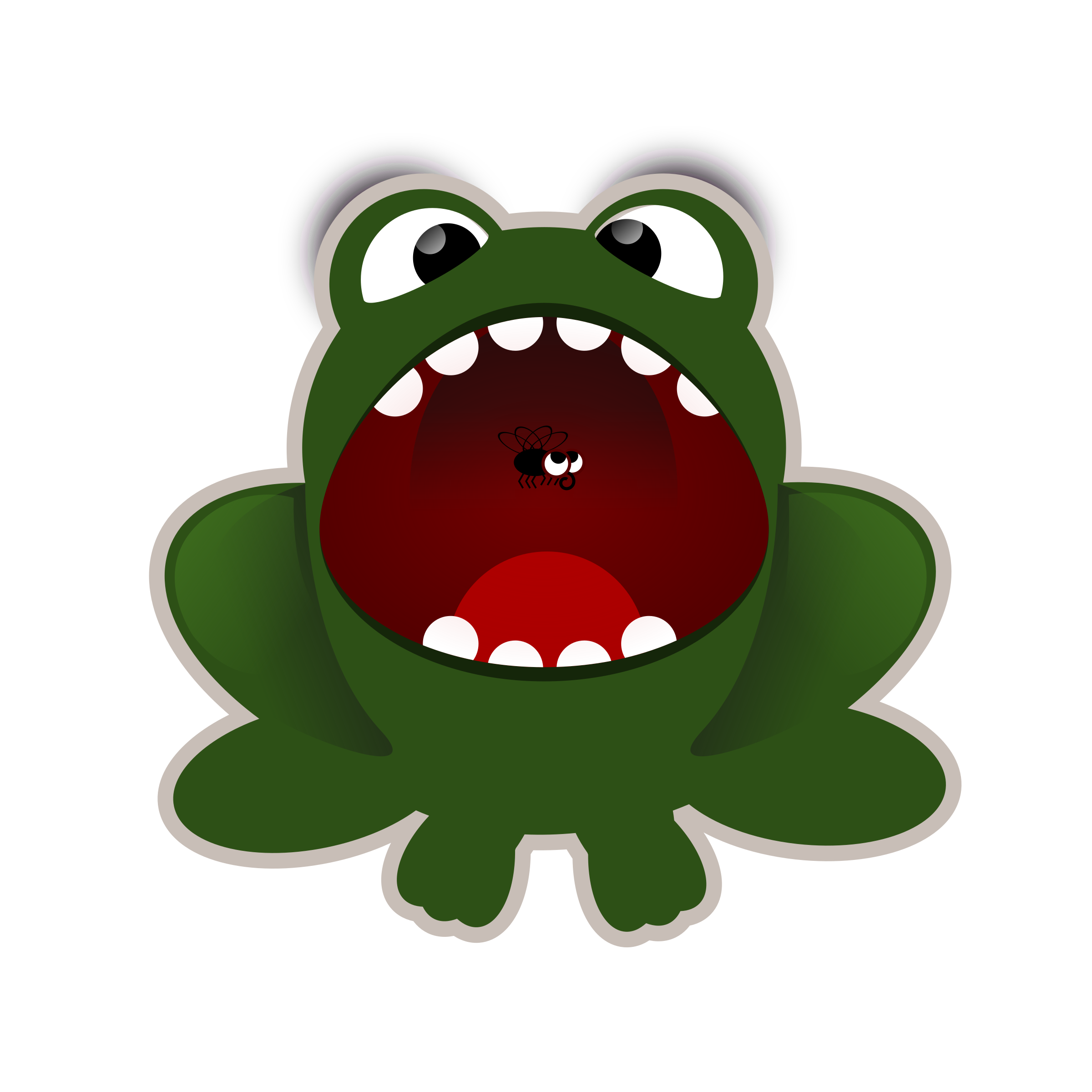 Big mouth animal clipart.