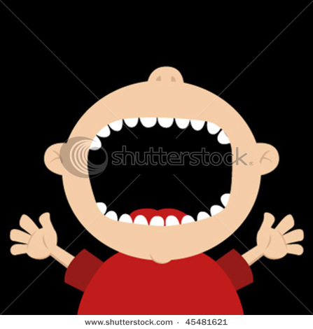 Clipart face with big mouth.