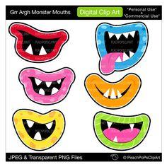 free cute monster clip art.