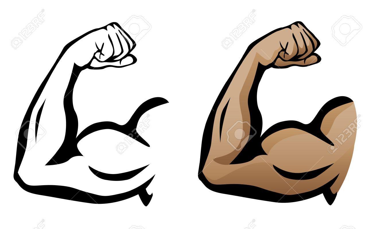 Cartoon Muscle Arm . Cartoon Muscle Arm Muscular Arm Flexing.