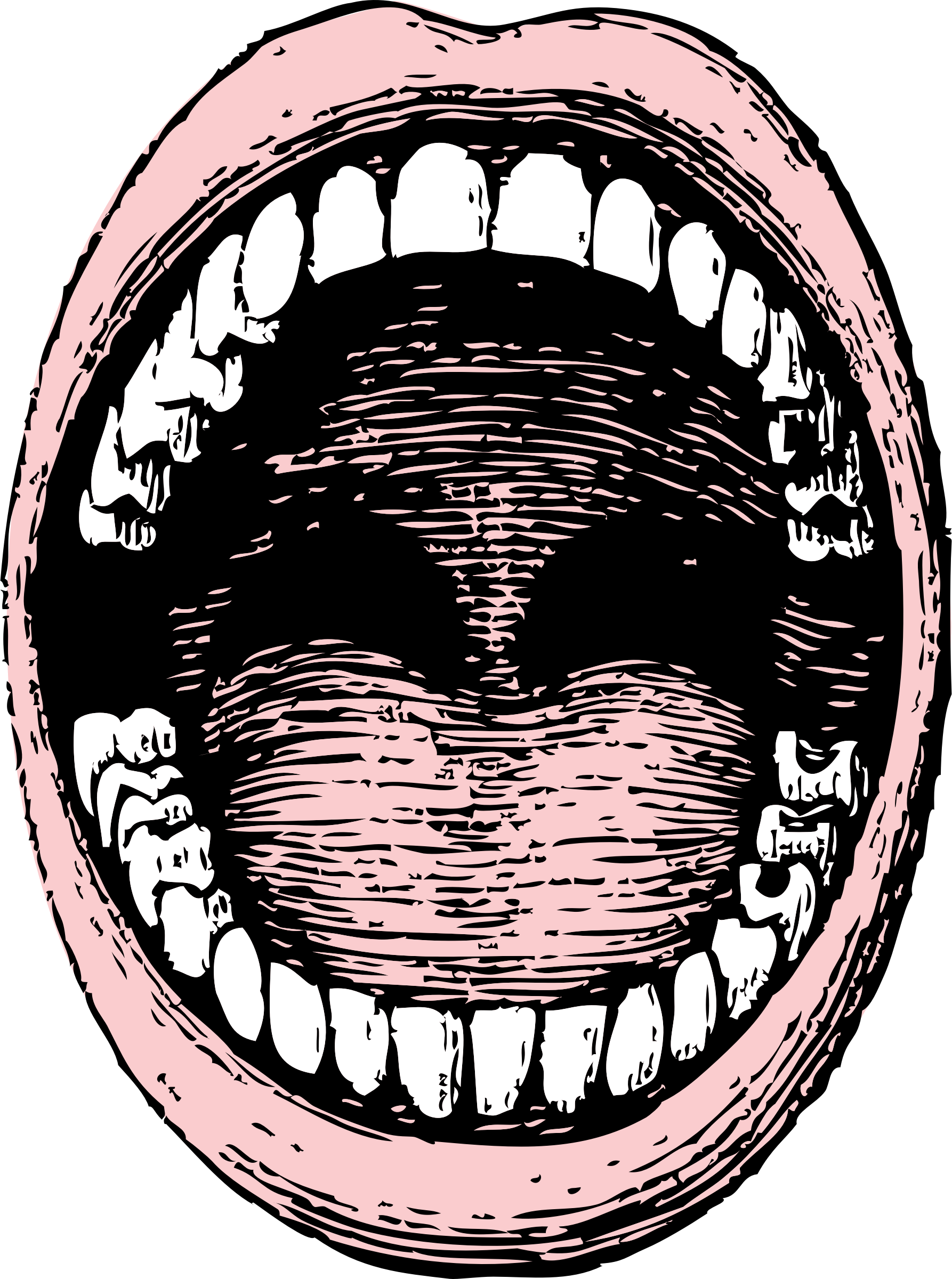 mouth with words clipart #9