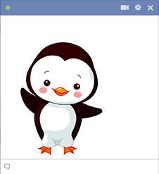 Big penguin icon for Facebook.