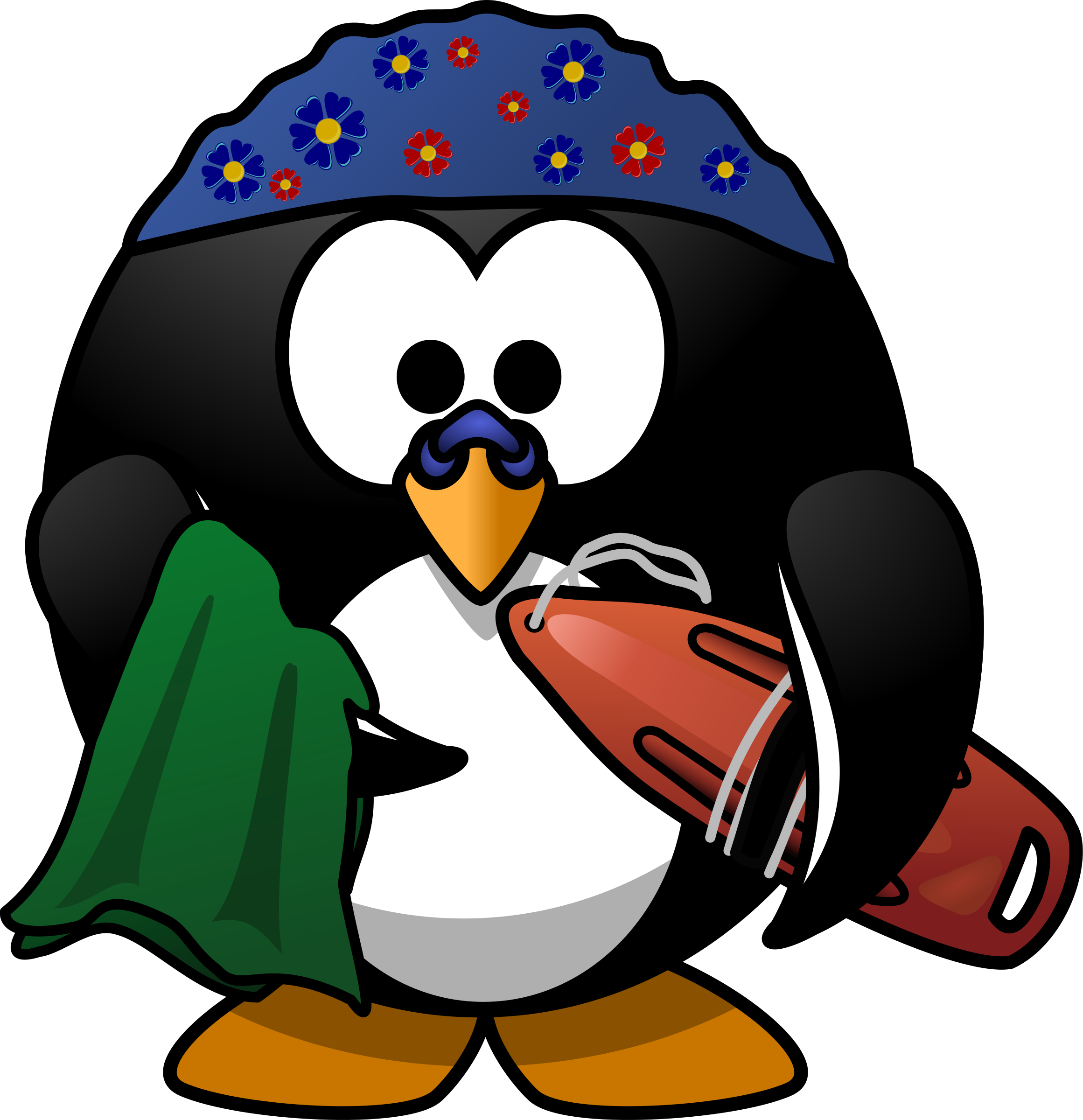 Penguin swimming clipart.