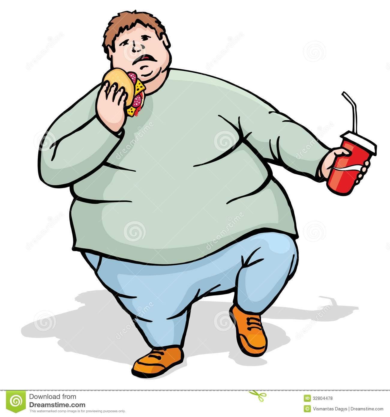Unhealthy Man Clipart.