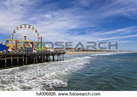 Stock Images of USA, California, Santa Monica, Santa Monica State.
