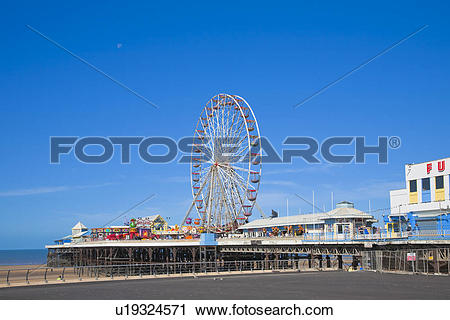 Stock Photography of England, Lancashire, Blackpool. The big wheel.