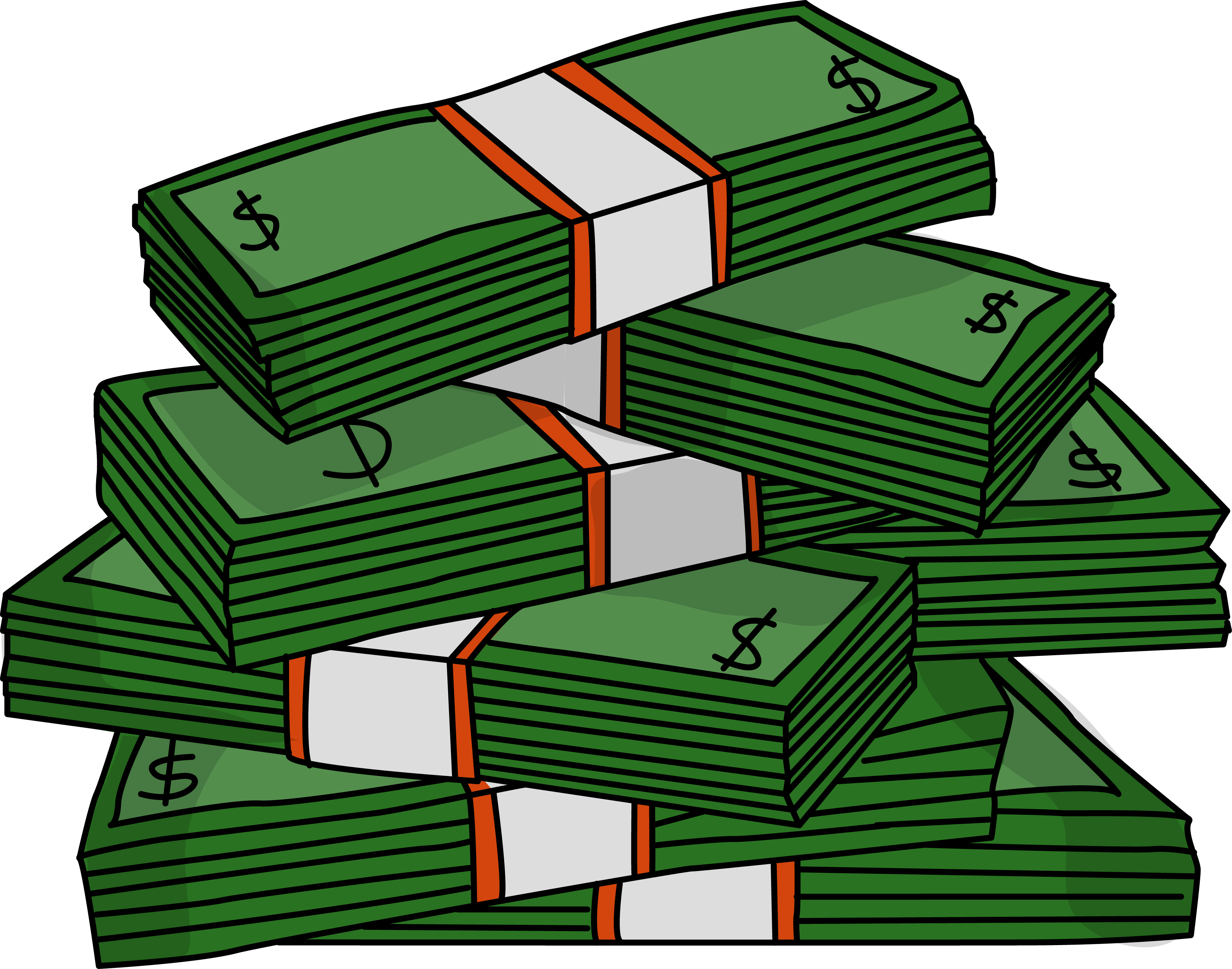 Library of real stack of money free library png files.