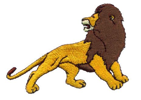 Animals Embroidery Design: Lion from Pinnacle Embroidery Patterns.