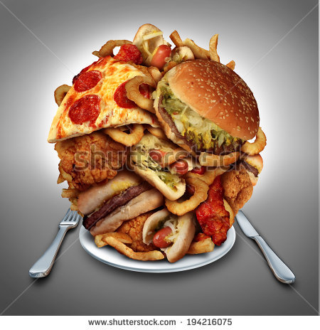 Junk Food Stock Images, Royalty.