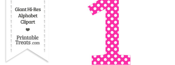 Big Polka Dot Clipart Of The Number 1.