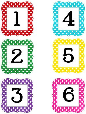 17 Best ideas about Polka Dot Numbers on Pinterest.
