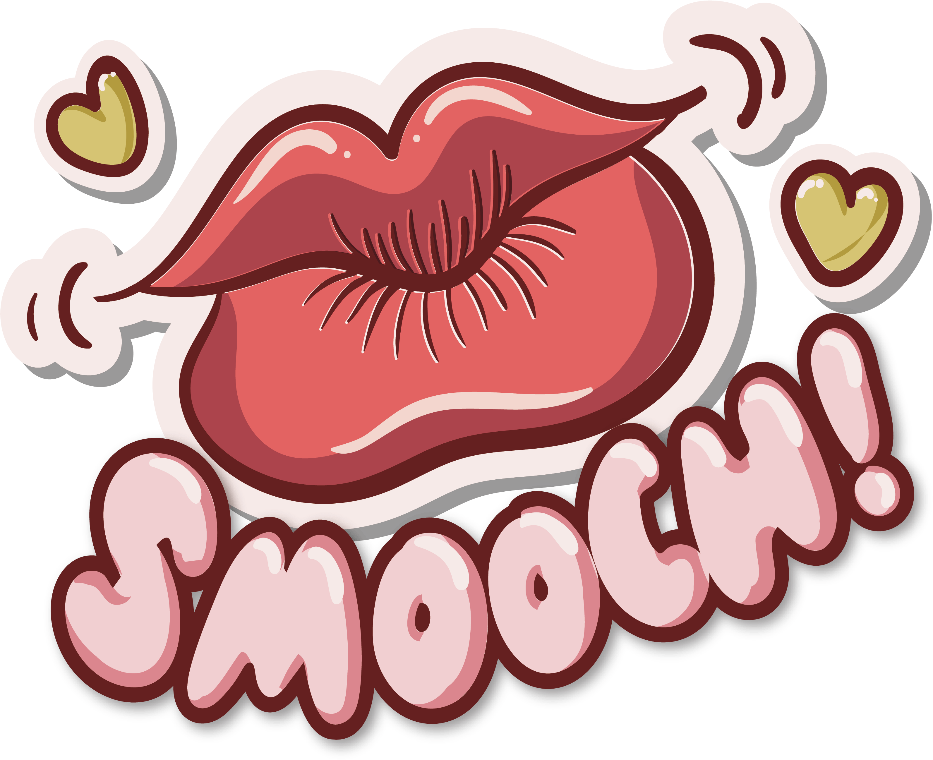 Big Red Lips Clipart Great Free Silhouette Coloring.