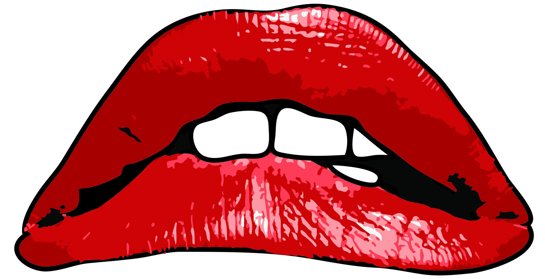 Red Lips and Tongue Logo.