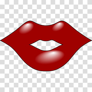 Big Red Lips transparent background PNG cliparts free.