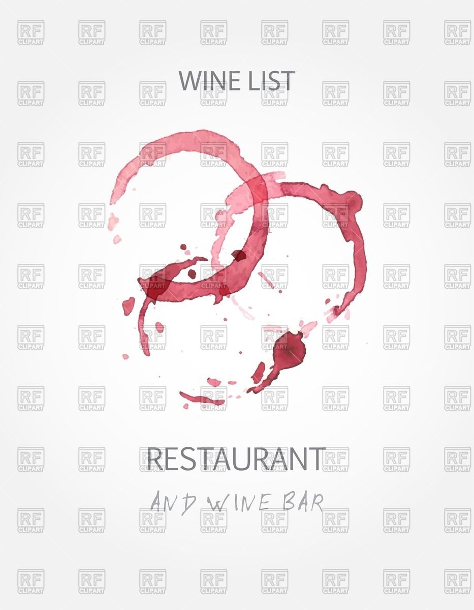 Wine list design menu with red wine stains Vector Image #60405.