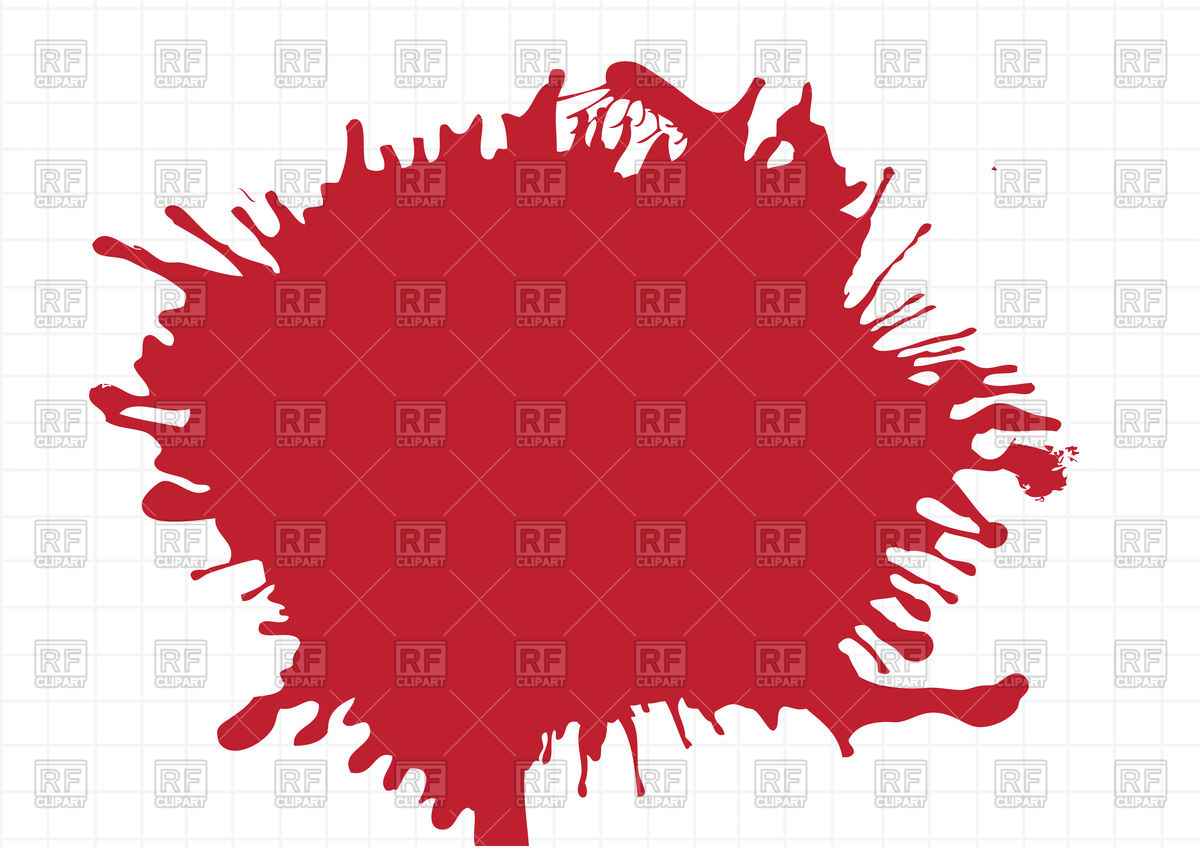 Abstract red watercolor stain Vector Image #89554.