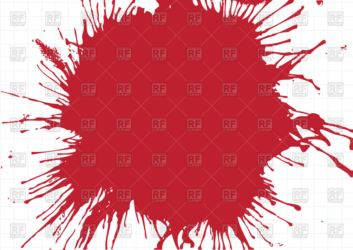 Abstract red watercolor stain Vector Image #88385.