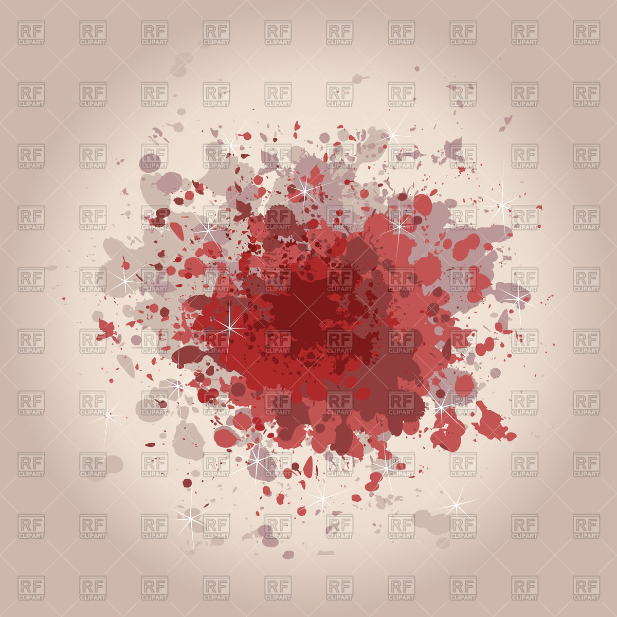 Red stain on old paper Vector Image #78795.