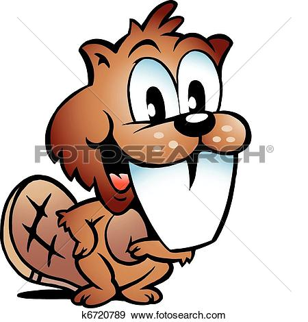 Clipart of Proud Rodent Beaver k6720792.