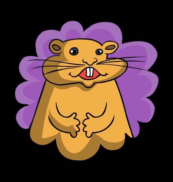 clip art animal rodent groundhog day.