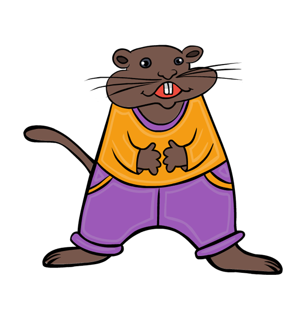 clip art groundhog day rodent animal dancing.