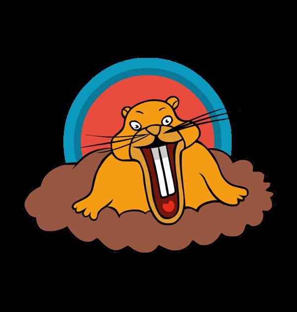 clip art weird groundhog day burrow rodent teeth.