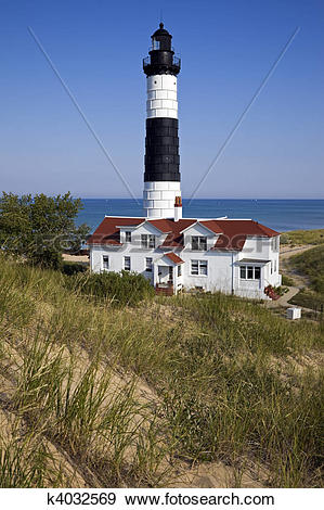 Stock Photograph of Big Sable Point Lighthouse in Michigan.