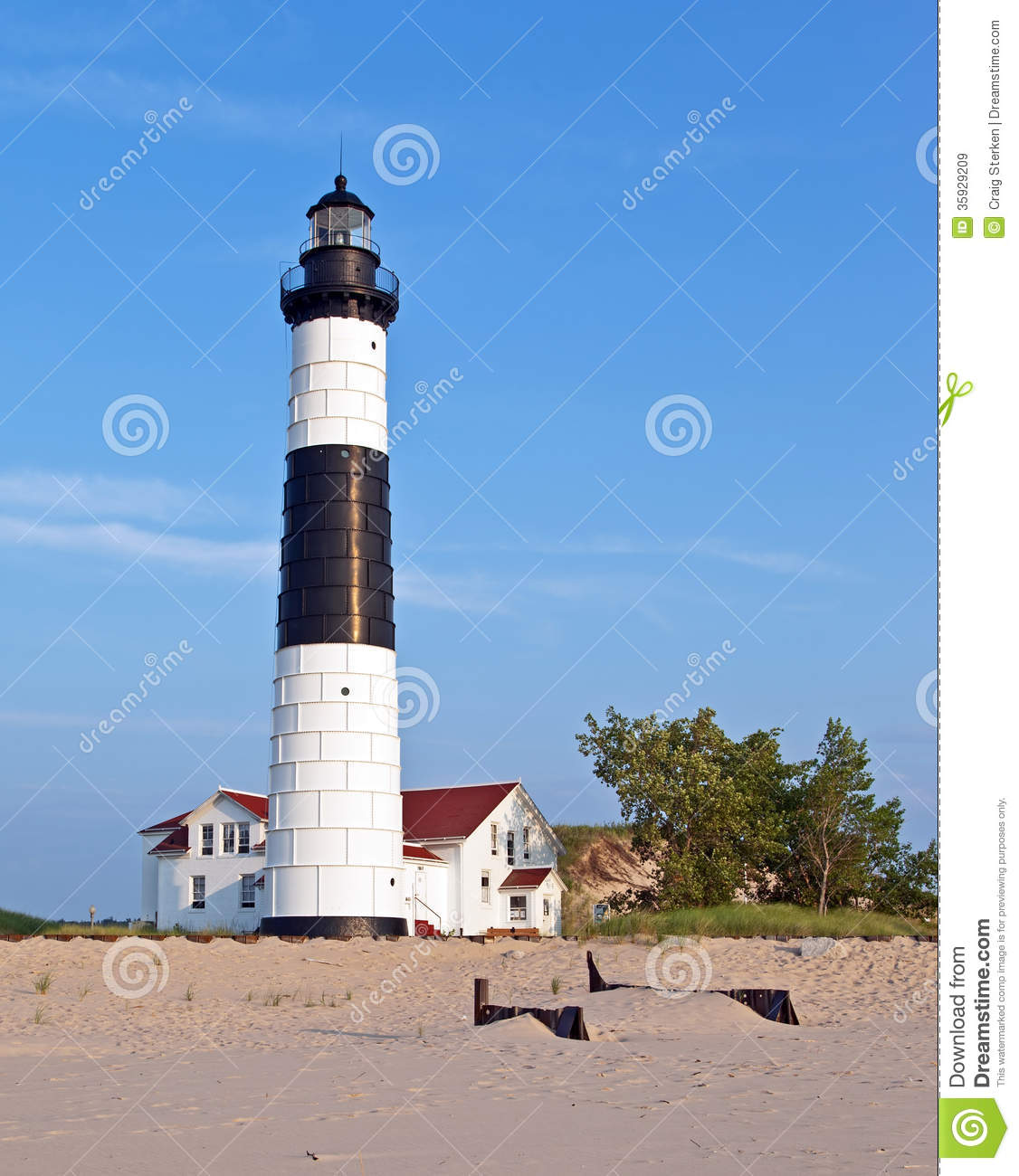 Big Sable Lighthouse Ludington State Park Michigan Royalty Free.