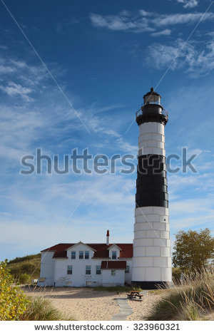 Lighthouse In Fall Season Stock Photos, Royalty.
