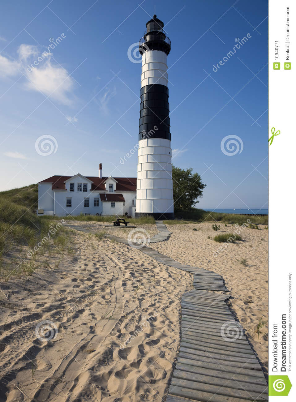Big Sable Point Lighthouse Stock Image.