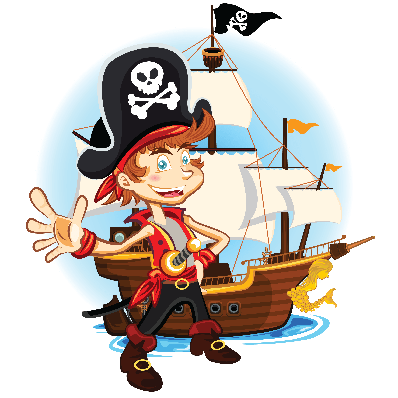 Pirate Kid and His Big War Ship.