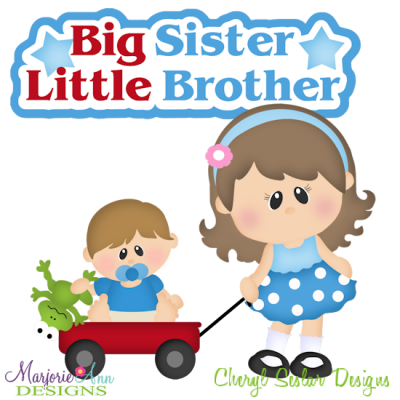 Little Brother And Big Sister Clipart.