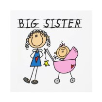 Big and little sister clipart.