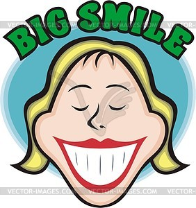 big smile vector clipart.