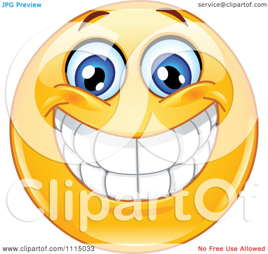 Clipart Happy Smiley Face With A Big Toothy Grin.