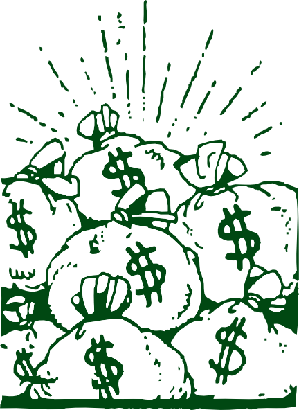 Big Stack of Money Clipart.