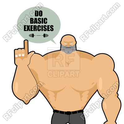 Big strong man raised his finger up Stock Vector Image.