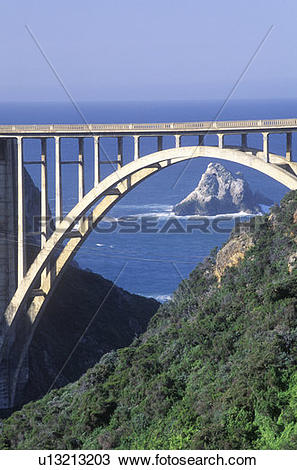 Stock Photo of The Bixby Bridge in Big Sur u13213203.