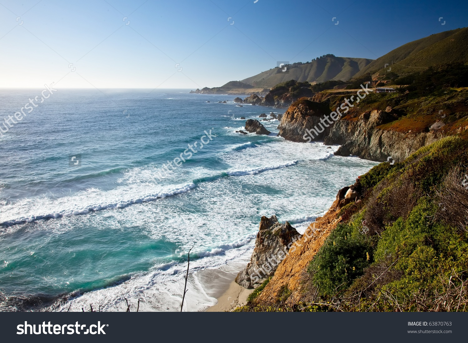 Big Sur Is A Sparsely Populated Region Of The Central California.