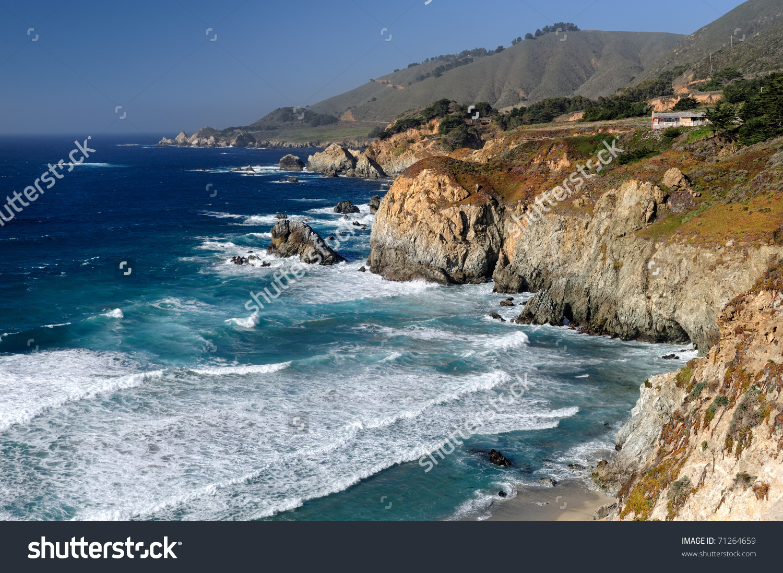 California Coast Highway 1 Near Big Stock Photo 71264659.