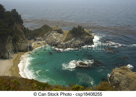 Stock Images of Big Sur Lagoon.