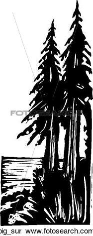 Clipart of Big Sur big_sur.
