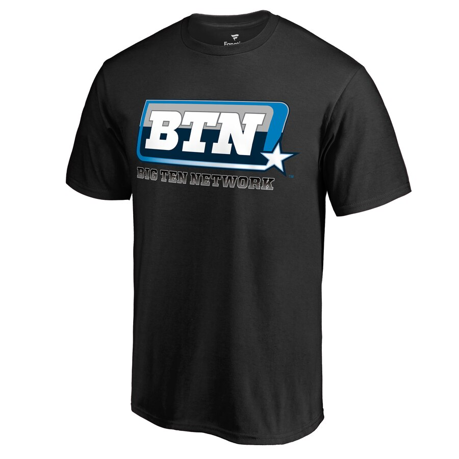 Men\'s Fanatics Branded Black Big Ten Network Big & Tall Primary Logo T.