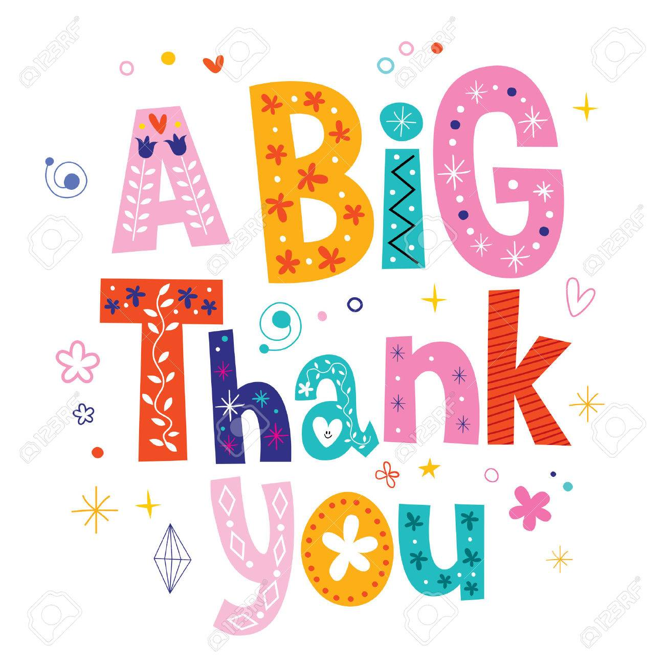 Great Big Thank You Clipart.