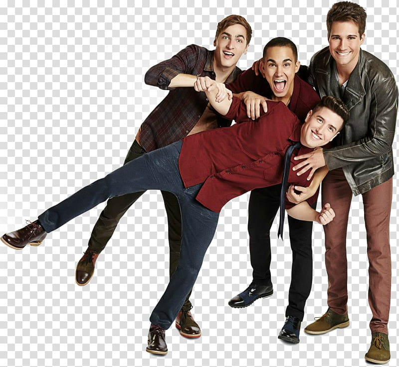 Big Time Rush , four person transparent background PNG.