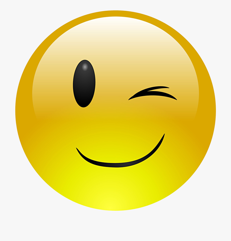 Emoji Face Clipart Wink.